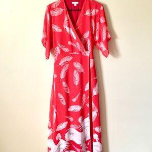 [New York & Company] Japanese Faux-wrap Maxi Dress